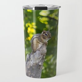 Chipmunk on a Tree Travel Mug
