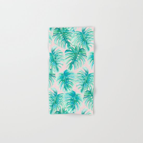 Paradise Palms Blush Hand & Bath Towel