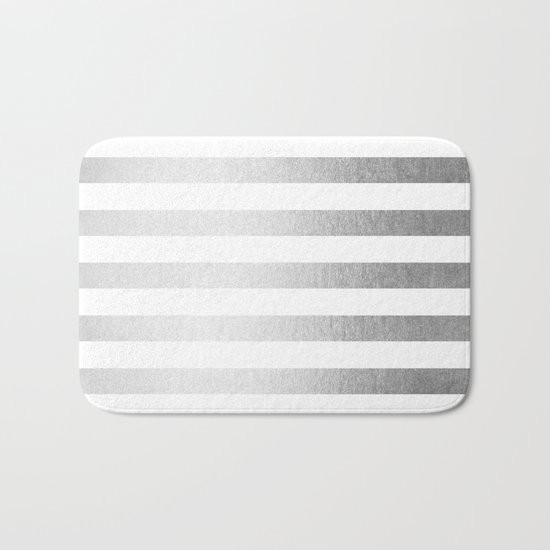 Simply Striped Moonlight Silver Bath Mat