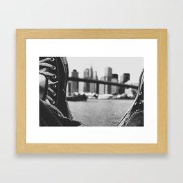 laced up Framed Art Print