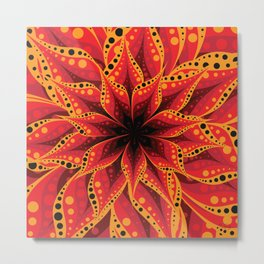 Red and yellow flower layers Metal Print
