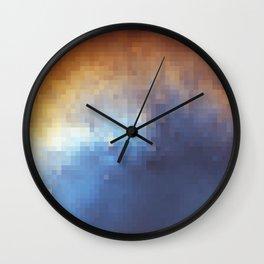 Galactic Squares #6 Wall Clock