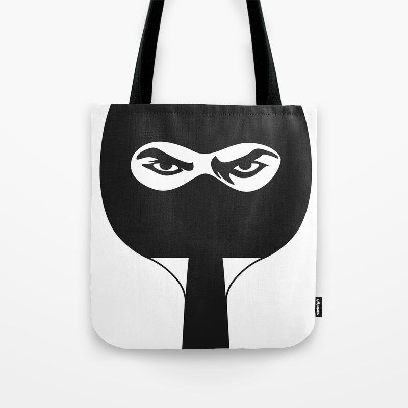 Ping Pong Ninja Tote Bag By