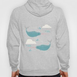 Narwhal pink Hoody