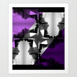 Fractal Wind Vane Skyline Art Print