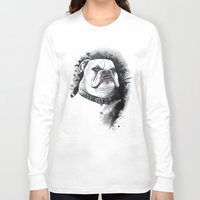 bulldog Long Sleeve T-shirts featuring Bulldog by kitara