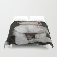 teddy bear Duvet Covers featuring Teddy Bear by Christiane W. Schulze Art and Photograph
