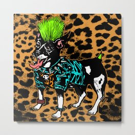 Punk Dog Metal Print