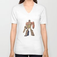 optimus prime V-neck T-shirts featuring Optimus Prime by colleencunha