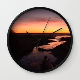 Reflecting on Life's Twists and Turns Wall Clock