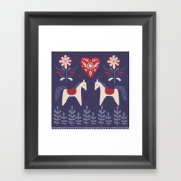 Swedish Christmas Framed Art Print