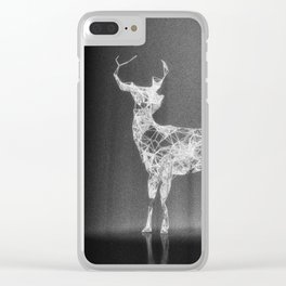 Deer in the Spotlight Clear iPhone Case
