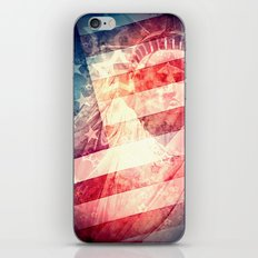 Patriotic Liberty Collage iPhone & iPod Skin