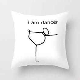 i am dancer Throw Pillow