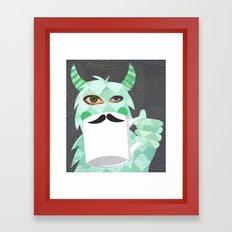 Movember Monster. Framed Art Print