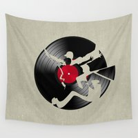 music Wall Tapestries featuring music  by mark ashkenazi