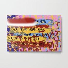 Blue Dynamite Metal Print