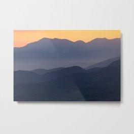 Mountain Sunset (Big Bear Lake, California) Metal Print