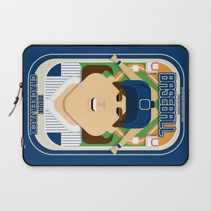 Baseball Blue Pinstripes Deuce Crackerjack June Version Laptop Sleeve By Boxedspapercrafts