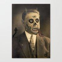 satan Canvas Prints featuring Satan by Beery Method