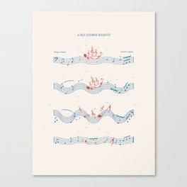 Nautical Notation Canvas Print