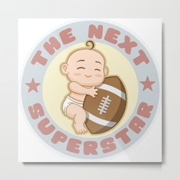 The next superstar - american football Metal Print