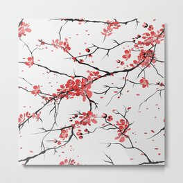 sakura pattern background Metal Print