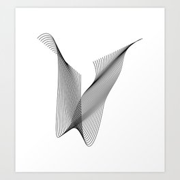 """""""Linear Collection"""" - Minimal Letter W Print Art Print"""