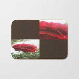 Red Rose with Light 1 Blank Q3F0 Bath Mat
