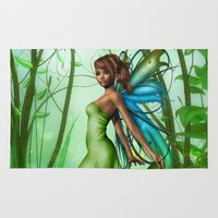 emerald Area & Throw Rugs featuring Emerald by Fairytale Art