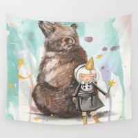best friends Wall Tapestries featuring Best Friends by Heathercook