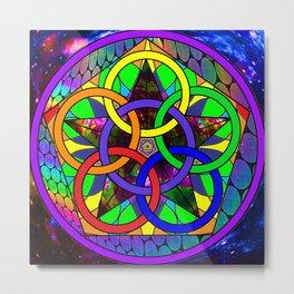 Rainbow Star-rings Metal Print