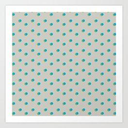 3D Dotted Pattern IV Art Print