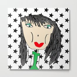 Rock Star Georgina Metal Print