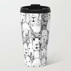just alpacas black white Travel Mug