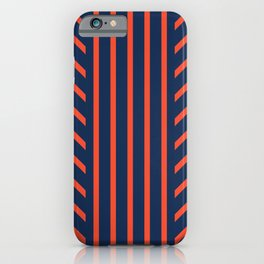 Lined Red + Navy iPhone Case