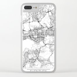 Shenzhen Map White Clear iPhone Case