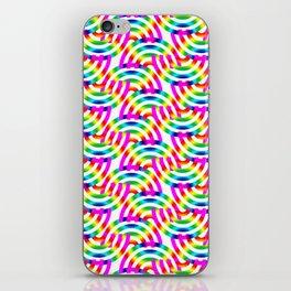 Rainbow Op-Art Pattern iPhone Skin