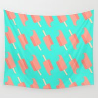 popsicle Wall Tapestries featuring Popsicle Pattern by Popsicle Illusion