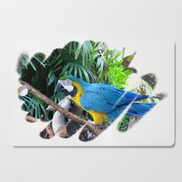 Blue Yellow Macaw. Parrot Cutting Board