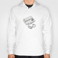 cassette Hoodies featuring Cassette by Sonia Puga Design