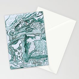 Encre vert Stationery Cards