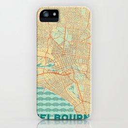 Melbourne Map Retro iPhone Case