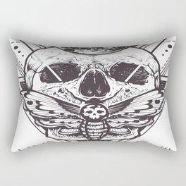 Skull And Triangle Geometric Patterns Rectangular Pillow