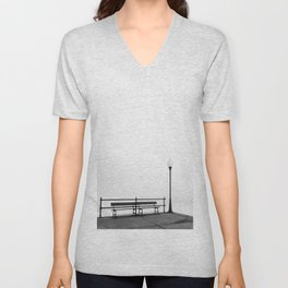 Pier in Early Spring, No. 2 Unisex V-Neck