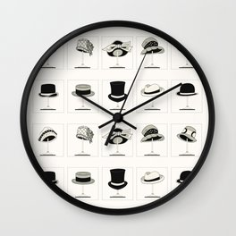 Hats of the 1920's Wall Clock
