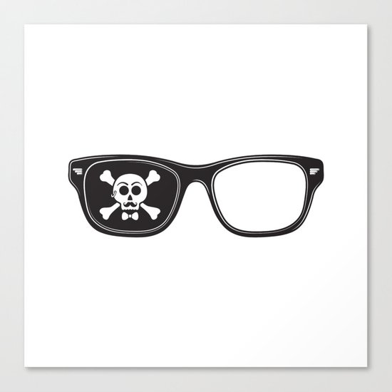 Hipster Pirate Canvas Print
