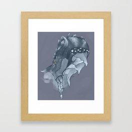 Frost Dragon Framed Art Print