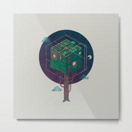 The Future is Green Metal Print