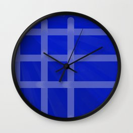 Crispy Blue Wall Clock